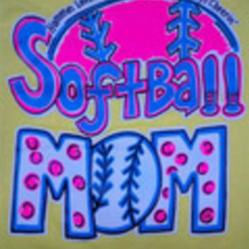 Southern Chics Funny Softball Mom 2 Sweet Thing Girlie Bright T Shirt