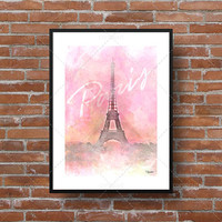 Illustration of the Eiffel Tower [Paris]. Ideal for display in the bedroom, living room or office!