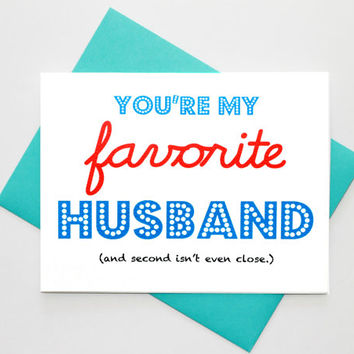 Valentine's Day Funny Hustband Love Greeting Card