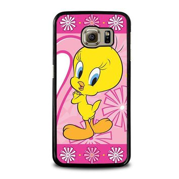 tweety bird looney tunes samsung galaxy s6 case cover  number 1