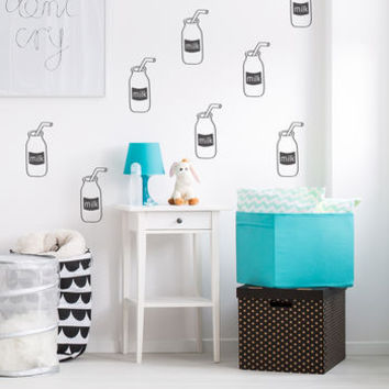 Milk Bottle Wall Stickers