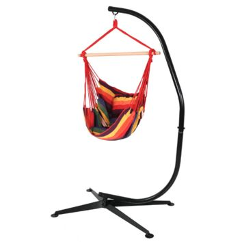 Sunnydaze Decor Sunset Hanging Hammock Swing and Stand