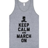 Keep Calm and March On (Tank)-Unisex Athletic Grey Tank