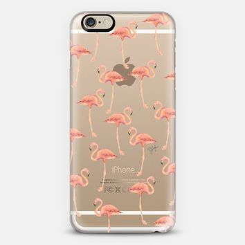 flamingo flock (transparent) iPhone 6s case by Ylfa Grönvold Illustrations | Casetify