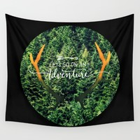 Let's Go On An Adventure Wall Tapestry by RDelean