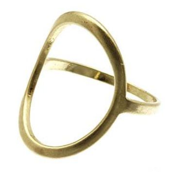 Oval Cutout Metal Size 7 Ring