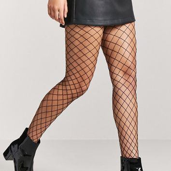 Diamond Fishnet Tights