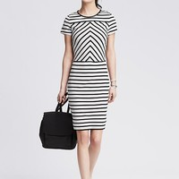 Banana Republic Womens Mixed Stripe Ponte Sheath