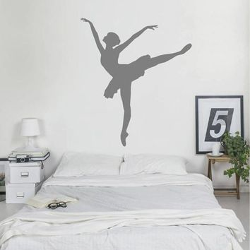 ik2269 Wall Decal Sticker ballerina dance ballet pas pirouette girl bedroom