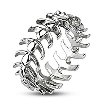 Spikes Stainless Steel Vertebrae Bone Cast Ring