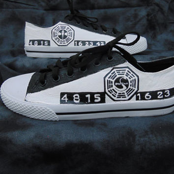 DHARMA Initiative Lost Hand Painted Canvas Lace Up Shoes