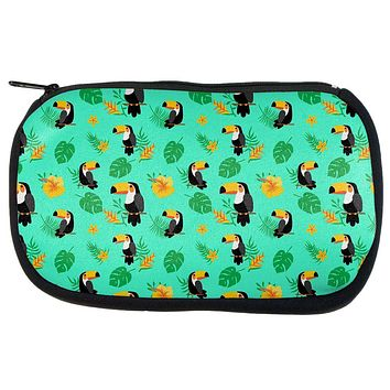 Tropical Toucan Rainforest Repeat Pattern Travel Bag