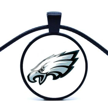 1PC American football Statement Chain Necklace philadelphia eagles Glass Cabochon fashion jewelry womens accessories