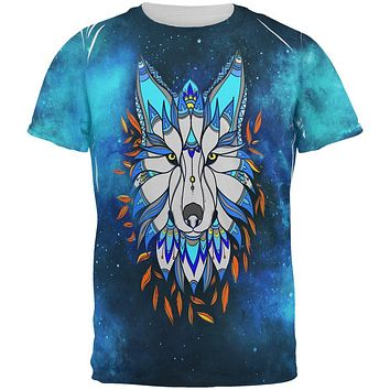 Totem Wolf is my Spirit Animal All Over Mens T Shirt
