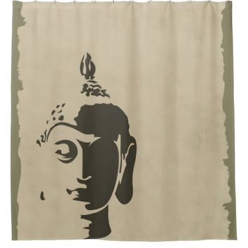 Buddha rustic design,grunge,zen,peace,calm,spirit, shower curtain