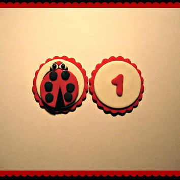 Lady Bug Birthday Party! Set of 12 (one dozen)