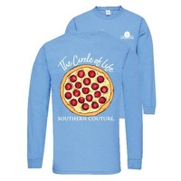 Southern Couture Preppy Circle Of Life Pizza Long Sleeve T-Shirt