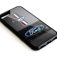 Ford Mustang Silver Grill iPhone 5 5s 6 6s 7 8 Plus SE Hard Plastic Case