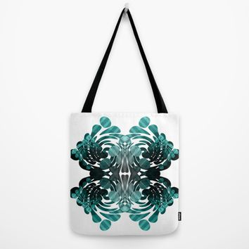 Abstract black and teal Tote Bag by VanessaGF | Society6