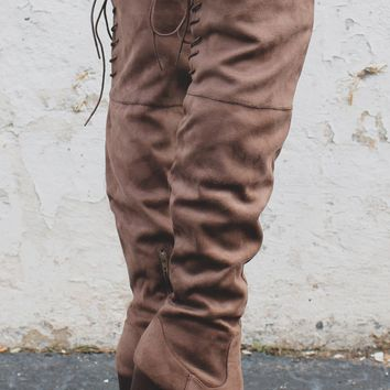 Luxe Over the Knee Boots - Ash