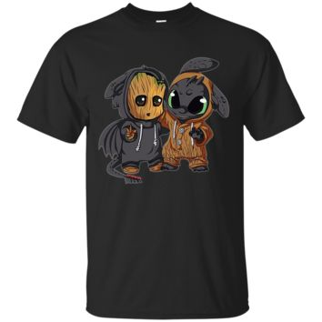 Groot And Toothless Ultra Cotton T-Shirt
