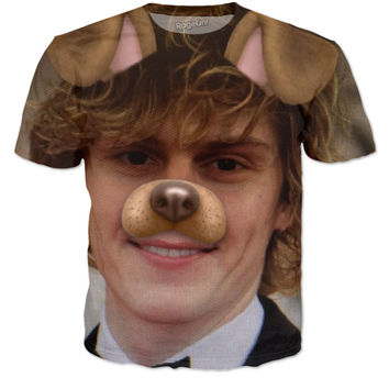 Evan Peters Snapchat Dog American Horror Story