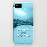 Sand and Kisses iPhone Case for iphone 5, 4S, 4, 3GS, 3G by Alice Gosling | Society6