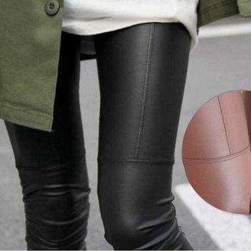 Faux Leather Leggings For Women Sexy Ladies Large Size Legging Pants Trouser Super Elastic Stretch Skinny Pants Jeggings Nxh01104 = 1932363716