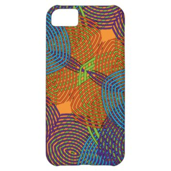 Modern Colorful Abstract Floral Pattern iPhone 5C Cases