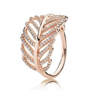 PANDORA Rose Light As A Feather Ring - Size 6