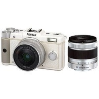 Pentax Q 12.4 MP CMOS Sensor Dual Lens Kit with 8.5mm and 5-15mm zoom (White)