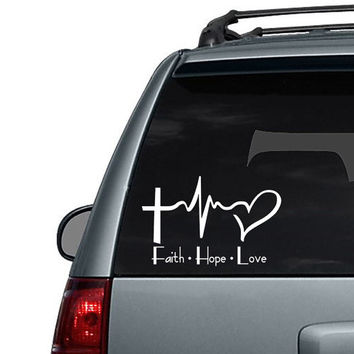Faith Hope Love - Car Decal Sticker