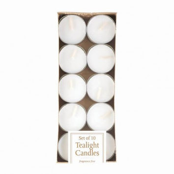 White Tealight Candles 10pk