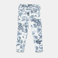TWO-TONE PRINTED TROUSERS DETAILS