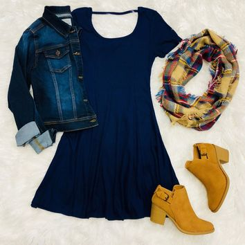 Completely Charmed Dress: Navy