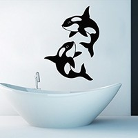 Wall Decals Whales Decal Vinyl Sticker Bathroom Nursery Home Decor Art Mural Ms290
