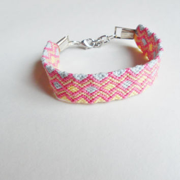 Handmade Bracelet // Adjustable with Chain and Lobster Clasp