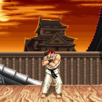 Street Fighter II Ryu's Stage Video Game Poster