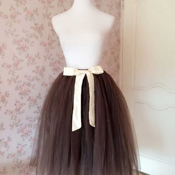 Coffee Tutu Skirt Chic adult tutu Skirt in any colors and size, 3-5 bussiness days processing(T1814)