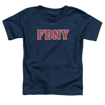 FDNY Toddler T-Shirt New York Fire Dept Logo Navy Blue Tee