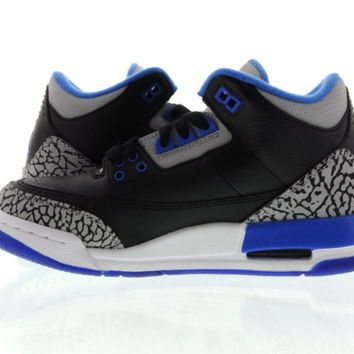 "Youth (GS) Air Jordan 3 Retro ""Sport Blue"" Black/Blue 398614-007"
