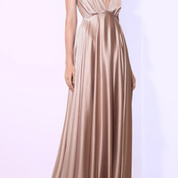 Couronne Solaire Silk Long Dress | Moda Operandi