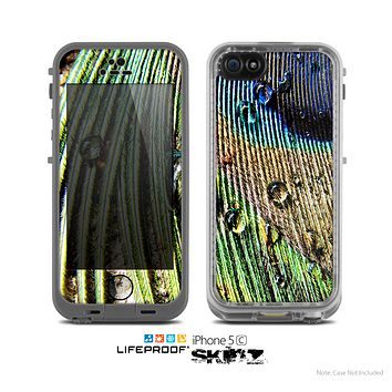 The Watered Peacock Detail Skin for the Apple iPhone 5c LifeProof Case