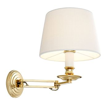 Gold Swing Arm Wall Lamp | Eichholtz Eclips