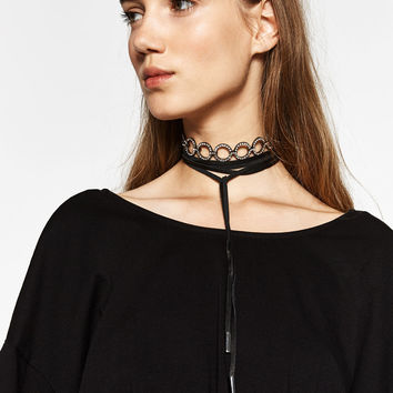 LEATHER AND SHINY CHOKER PACK