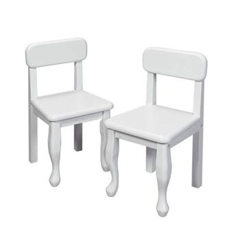 Gift Mark 3003W Queen Anne Two Chair Set - White