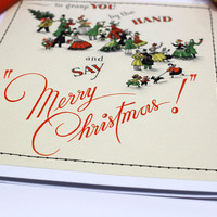 greeting card vintage with envelope | Christmas | handmade upcycled | hand