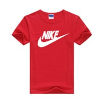 """""""Nike"""" Men Simple Casual Classic Letter Print Round Neck Short Sleeve Cotton T-shirt"""