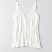 AEO Soft & Sexy Double Lace Cami , Cream