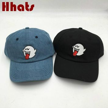 Trendy Winter Jacket Dad Hat For Men Embroidered Black Denim Emoji Ghost Dad Cap Women Men The Rapper Soul Snapback Baseball Cap Hip Hop Male Female AT_92_12